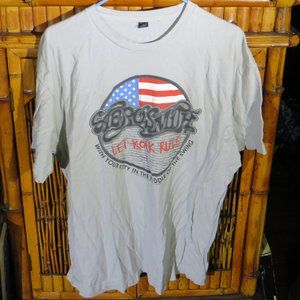 Aerosmith T-shirt Let Rock Rule USA Flag